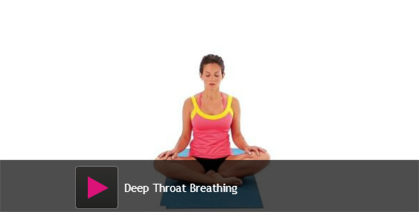 deep throat breathing, throat breathing, yoga sleep